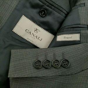 CANALI 1934 Travel Suit Mini Gray Check 40R